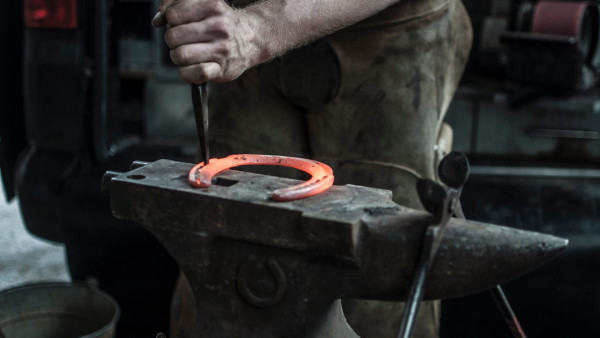 Blacksmith doing a Horseshoe