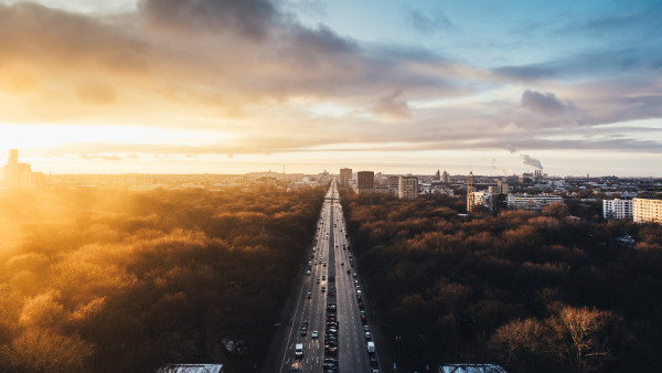 Sunset from Tiergarten