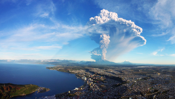 Calbuco volcano in Chile erupts