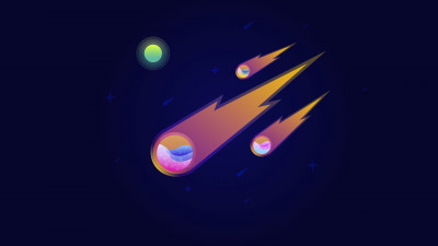 Illustration: Meteor shower