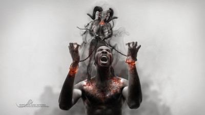 Photoshop artwork: Illustrating slavery