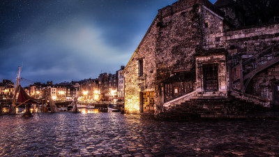 Night in Honfleur, France