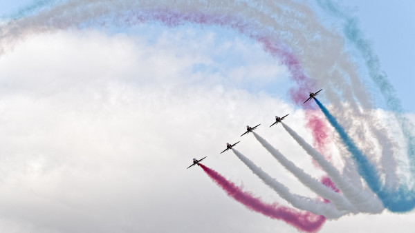 Red Arrows at Sywell Air Show