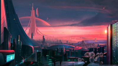 Antares. The metropolis of the future