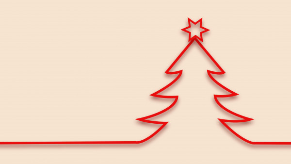 Red minimalistic Christmas tree design