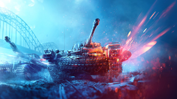 Battlefield 5 poster with tanks
