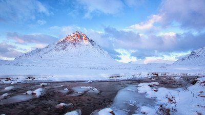 Winter landscape from Scottish Highlands