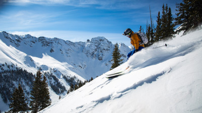 Skier on the San Juan mountains