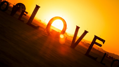 Love from Burning Man festival