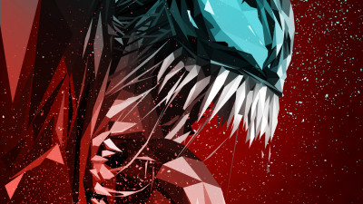 Venom digital art poster