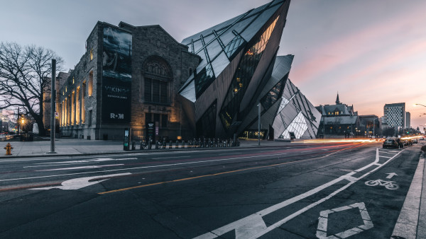 Royal Ontario Museum at sunset