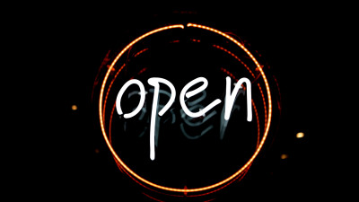 Open logo in light