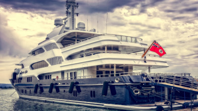 Super yacht in harbour