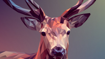 Low Poly Illustration: Deer