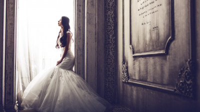 Bride in castle