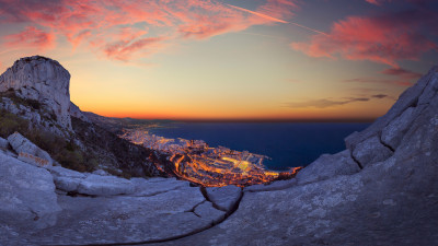 Sunrise over Monaco