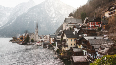 City view of Hallstatt, Austria