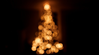 Bokeh Christmas tree