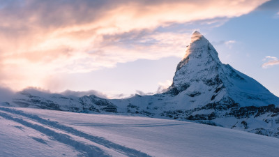 Swiss Alps. Matterhorn mountain peak