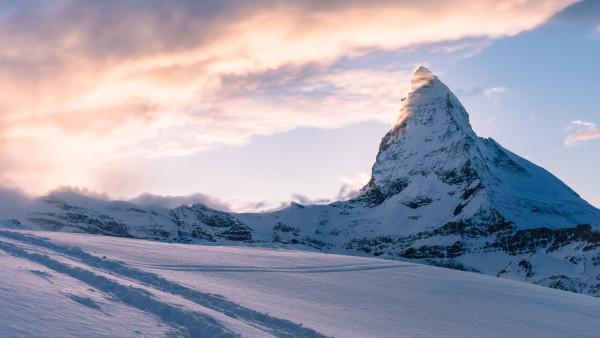 Swiss Alps Matterhorn Mountain Peak Hd Wallpaper Free