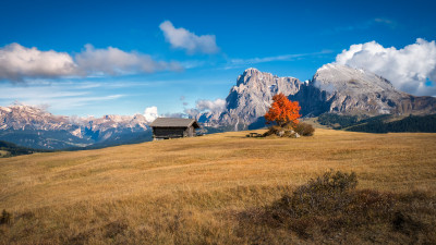 Perfect Autumn landscape from South Tyrol