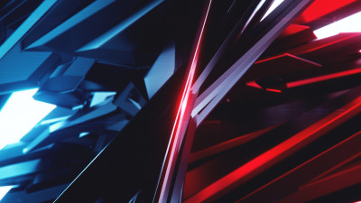 Abstract 3D: Blue vs Red