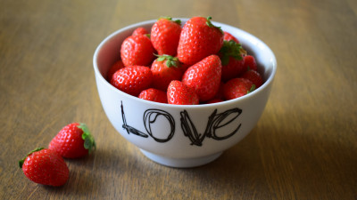 Strawberries with love