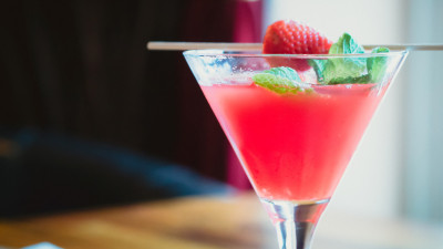 Strawberries cocktail