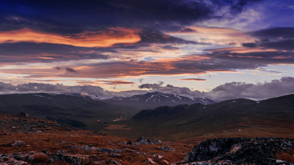 Sunset from Sarek National Park