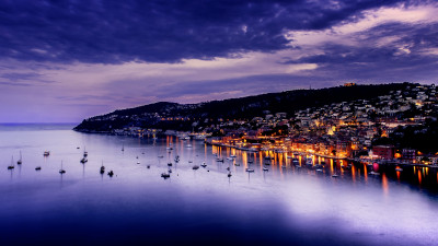 Sunset over Villefranche