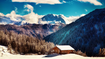 Winter landscape from Tirol