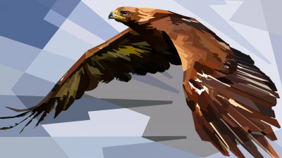Digital drawing of an eagle