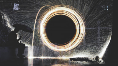 Steel wool. Light sparks