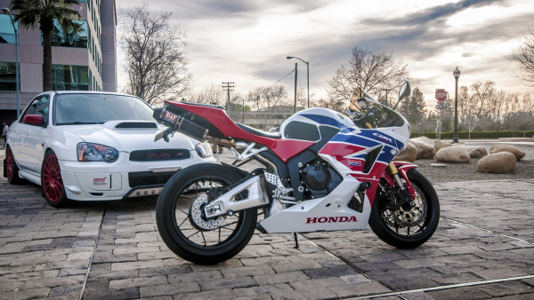 Honda CBR and Subaru WRX