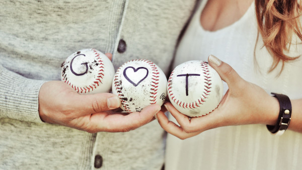 Lovers, couple, baseball
