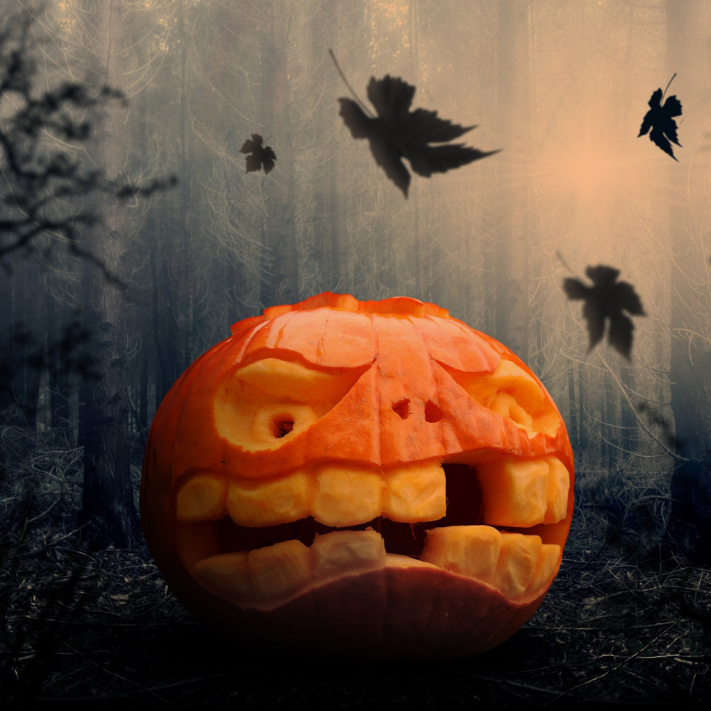 Halloween pumpkin wallpaper 1024x1024