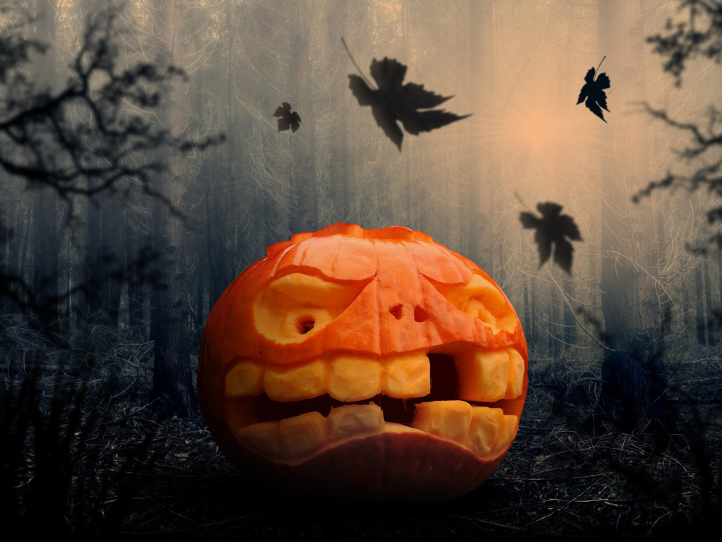 Halloween pumpkin wallpaper 1024x768