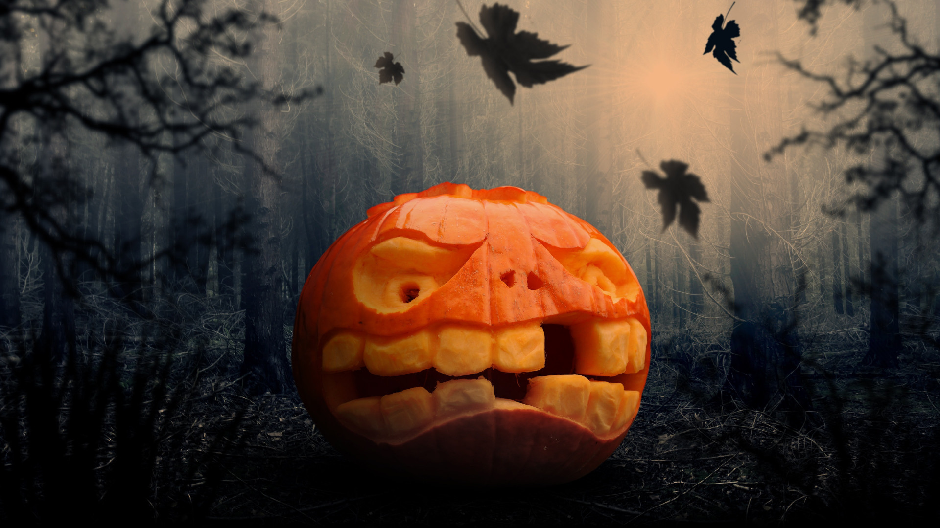 Halloween pumpkin wallpaper 1920x1080