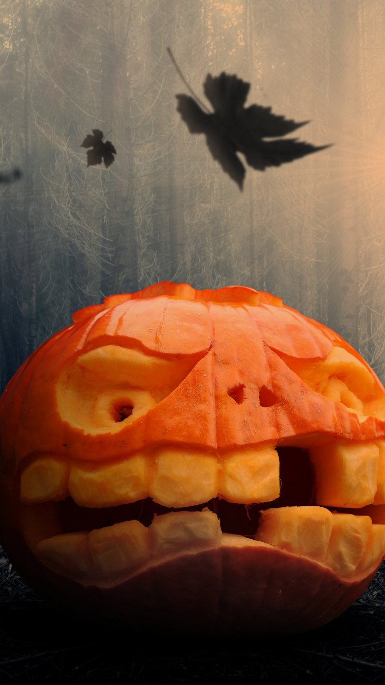 Halloween pumpkin wallpaper 750x1334