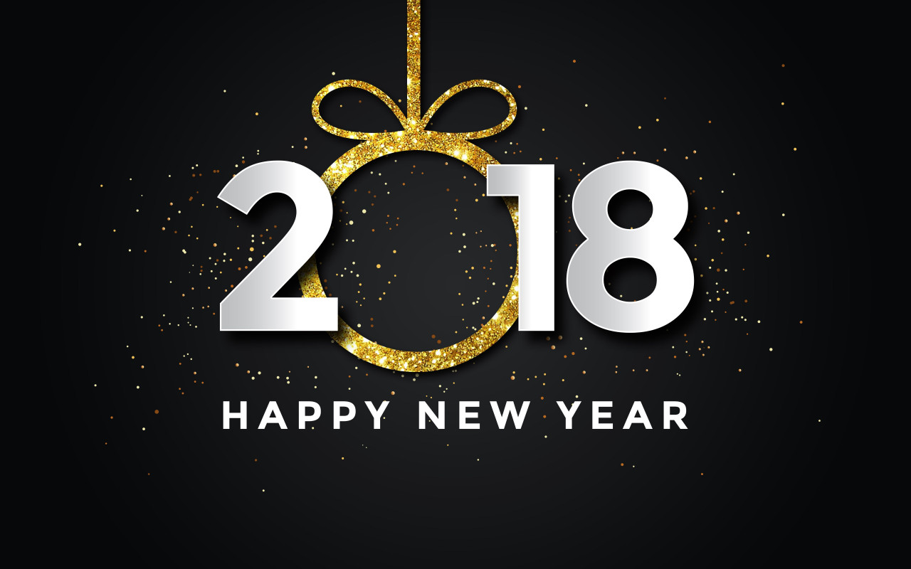 Happy New Year 2018 wallpaper 1280x800