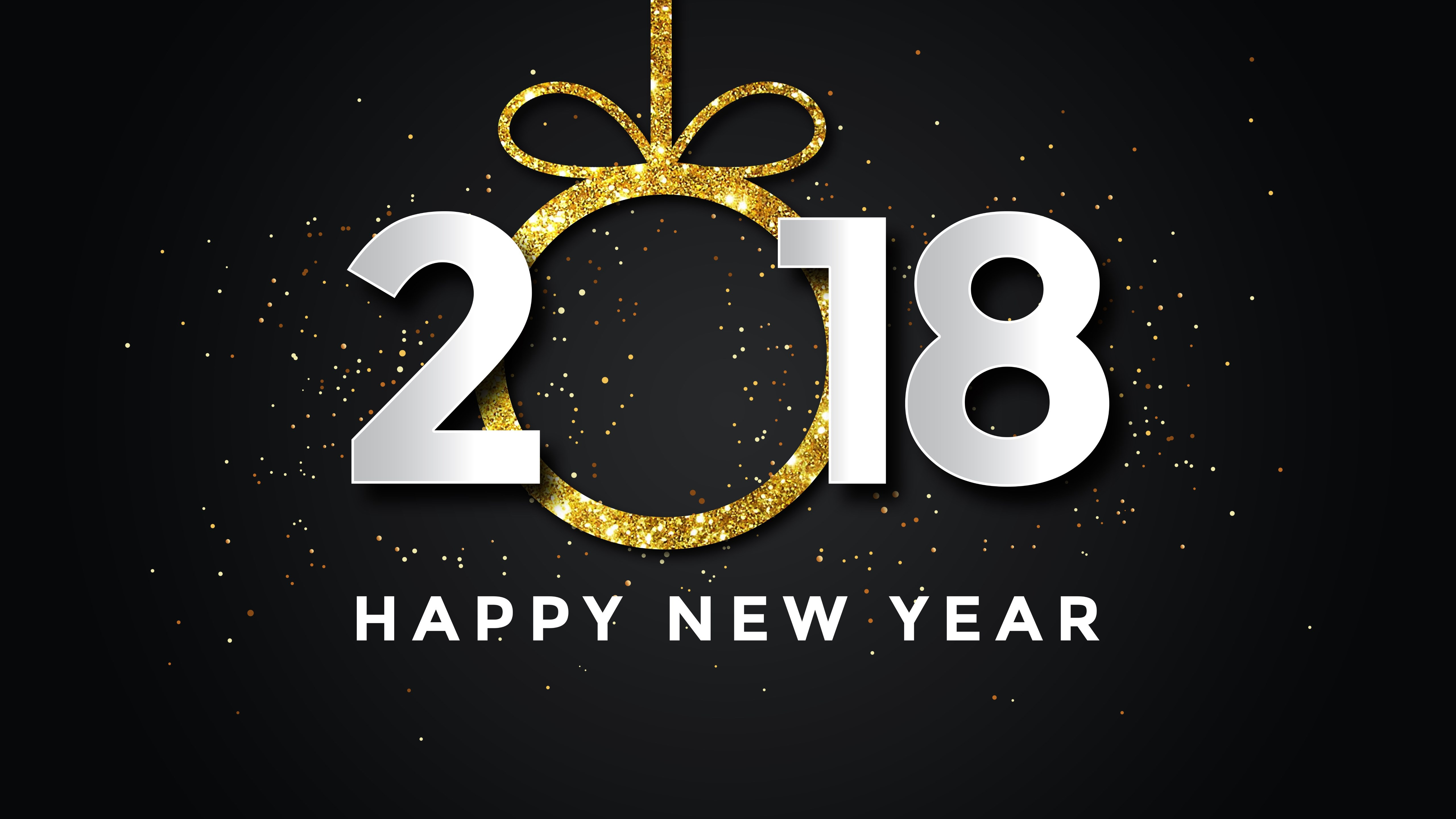 Happy New Year 2018 wallpaper 5120x2880