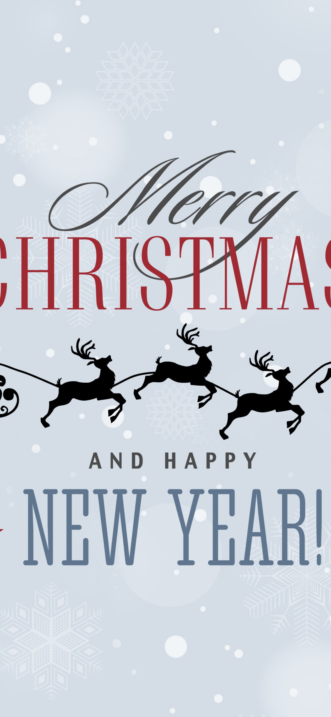 Merry Christmas and a Happy New Year wallpaper 1125x2436