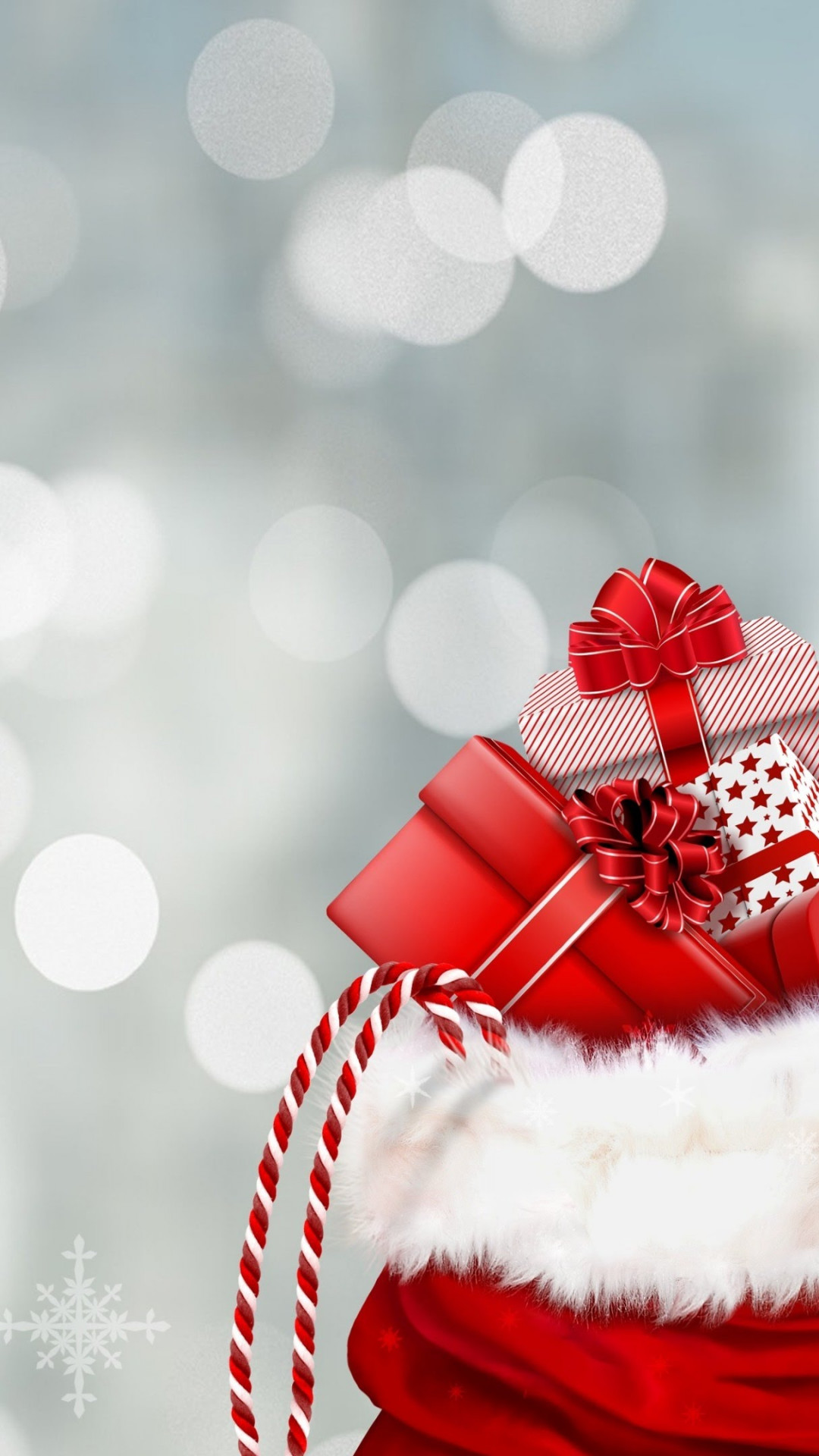 Bag with Christmas gifts wallpaper 1080x1920