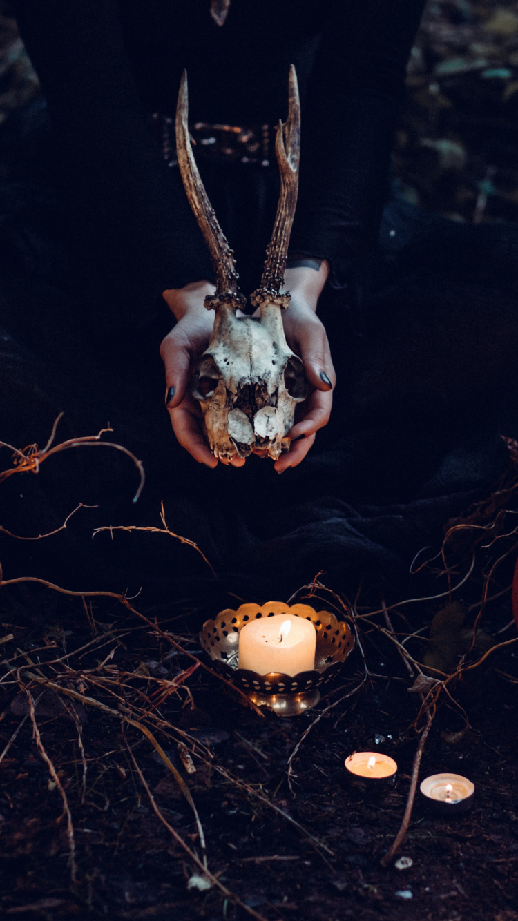 Halloween ritual | 750x1334 wallpaper