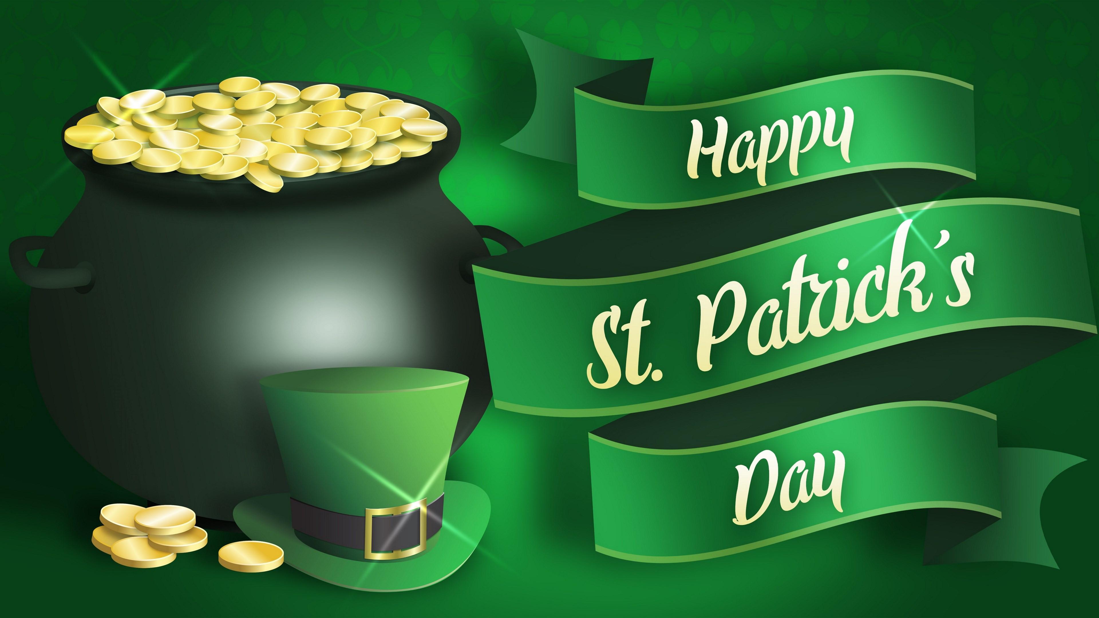 Download Wallpaper Happy Saint Patrick S Day 3840x2160