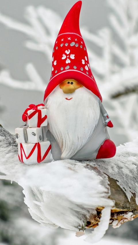 Santa Claus figurine wallpaper 480x854