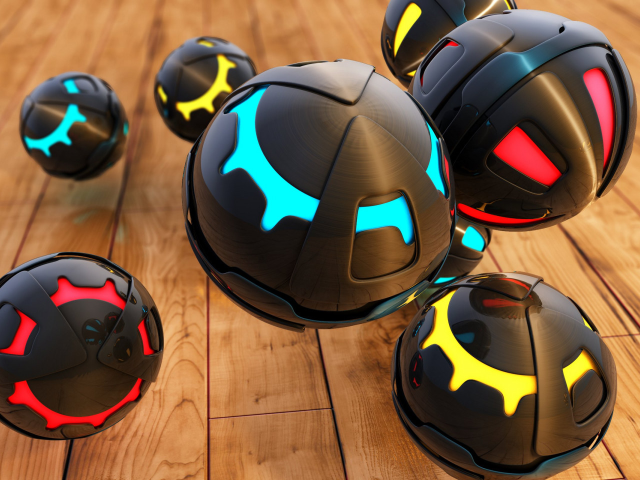 3D Spheres | 1280x960 wallpaper