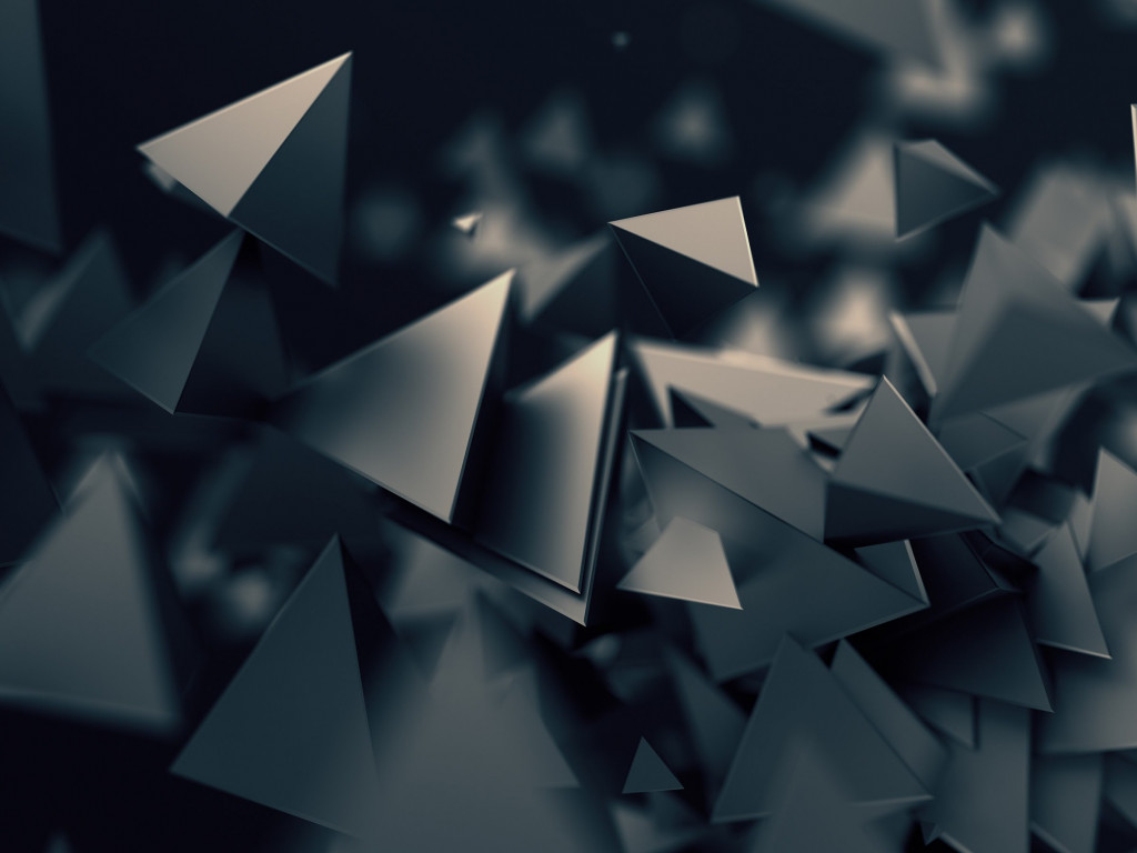Triangular prisms wallpaper 1024x768