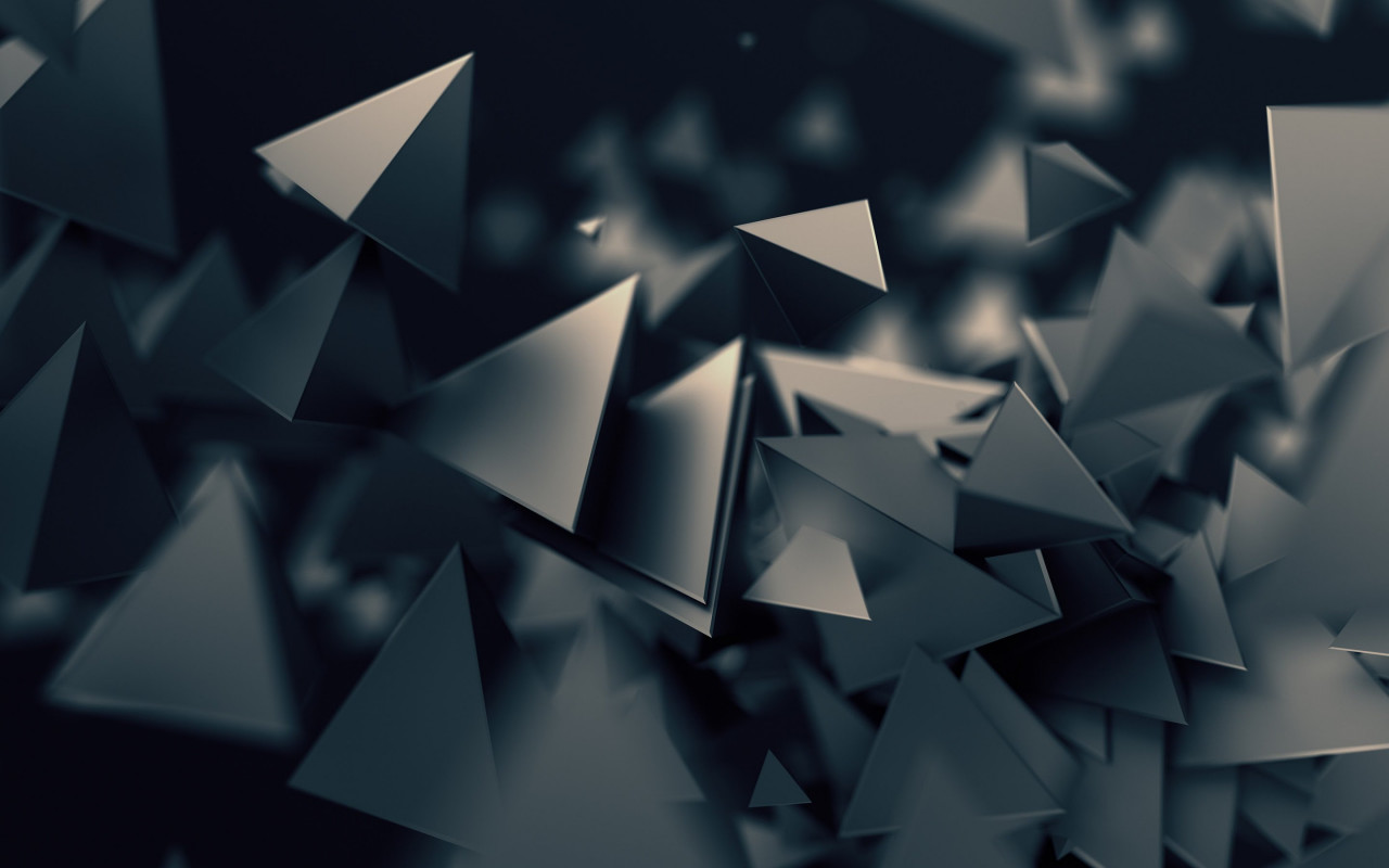 Triangular prisms wallpaper 1280x800