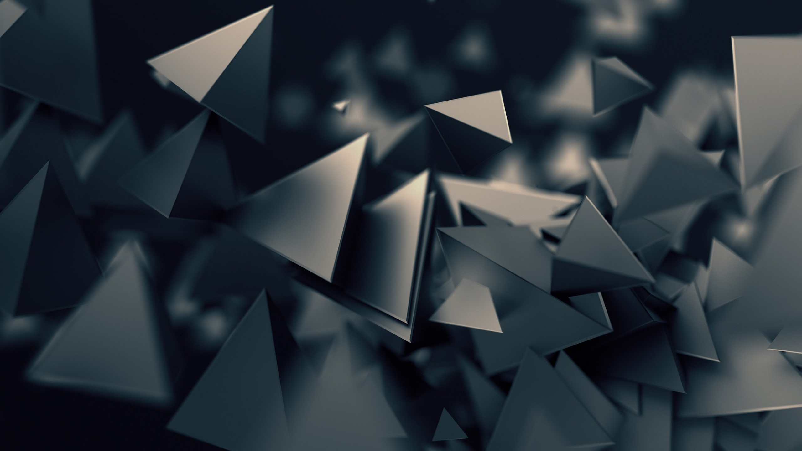 Triangular prisms | 2560x1440 wallpaper